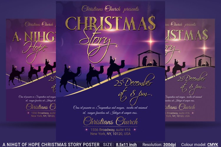A Nihgt Of Hope Christmas Story Flyer Poster example image 1