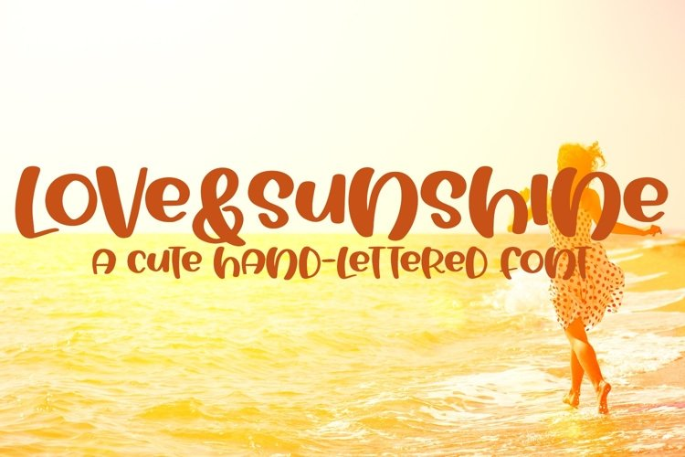 Web Font Love&Sunshine - A Cute Hand-Lettered Bold Font example image 1