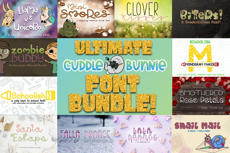 The Ultimate Cuddle Bunnie Font Bundle