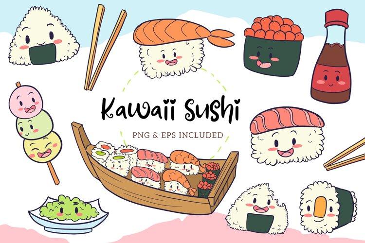Kawaii Sushi Illustrations