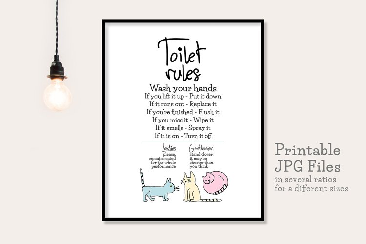 Toilet Rules - Printable example image 1