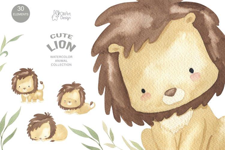 LION clipart. Safari animal png. example image 1