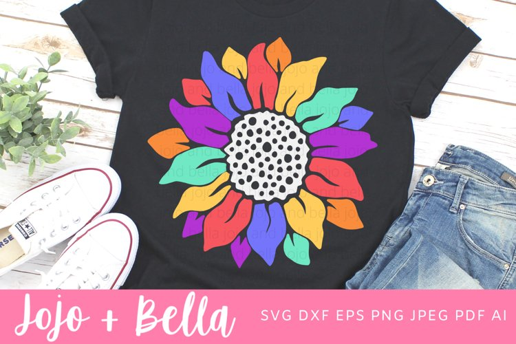 Sunflower Svg - Rainbow SVG example image 1