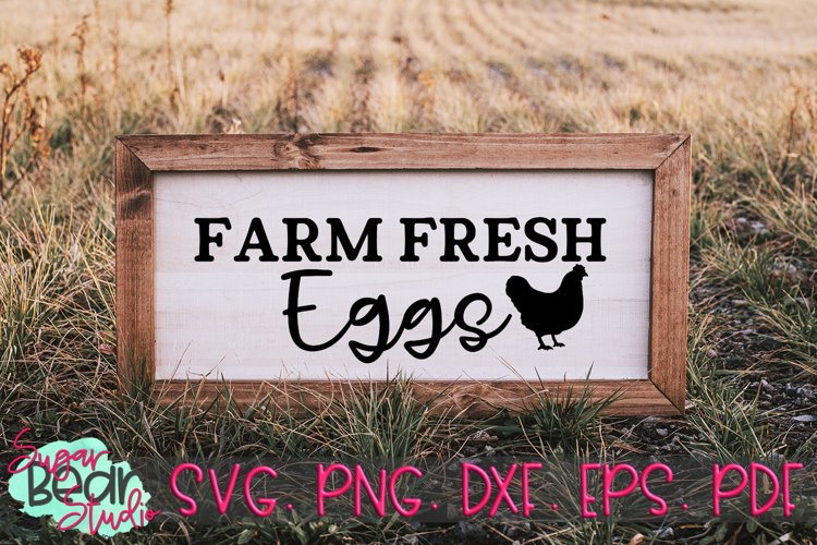 Farm Fresh Eggs - A Quote SVG example image 1