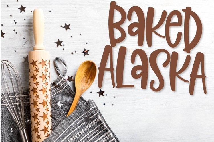 Baked Alaska - A fun hand lettered font! example image 1