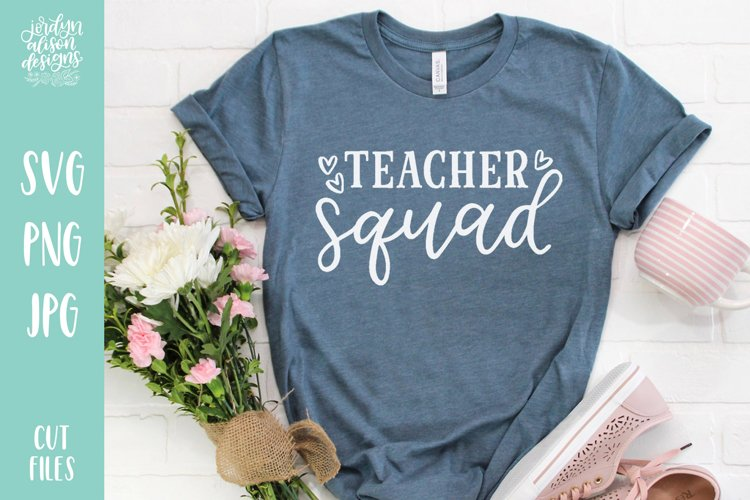 Teacher Squad, Hand Lettered School SVG Cut File example image 1