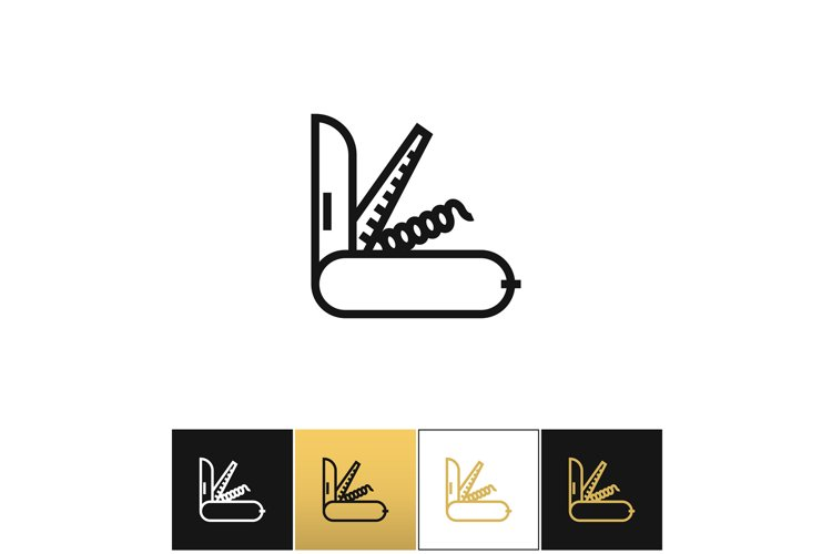 Army knife vector icon example image 1