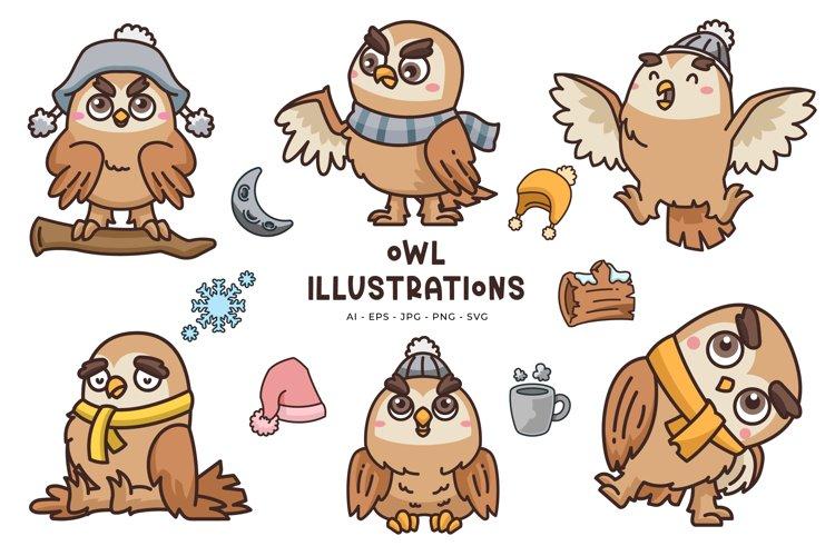 Owl Illustrations example image 1