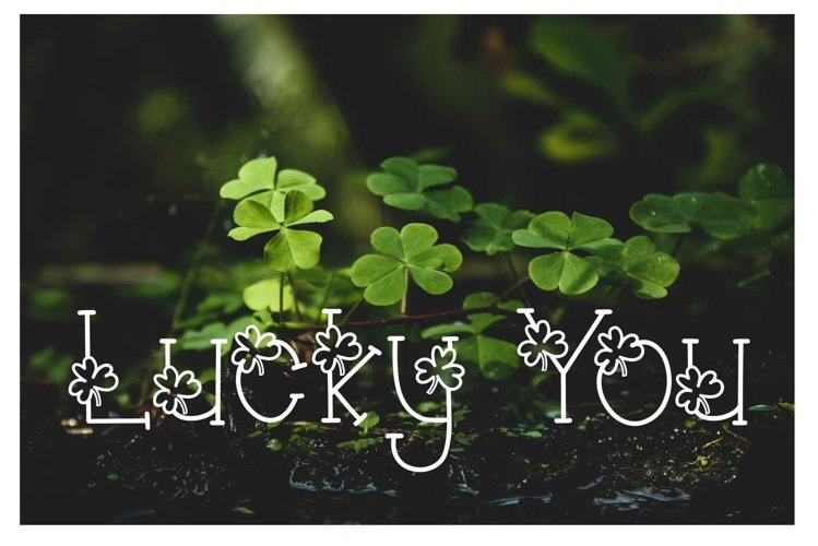 Lucky You Hand Lettered Shamrock Irish Font
