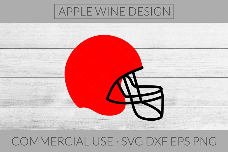 Football Helmet SVG DXF PNG EPS Cutting File