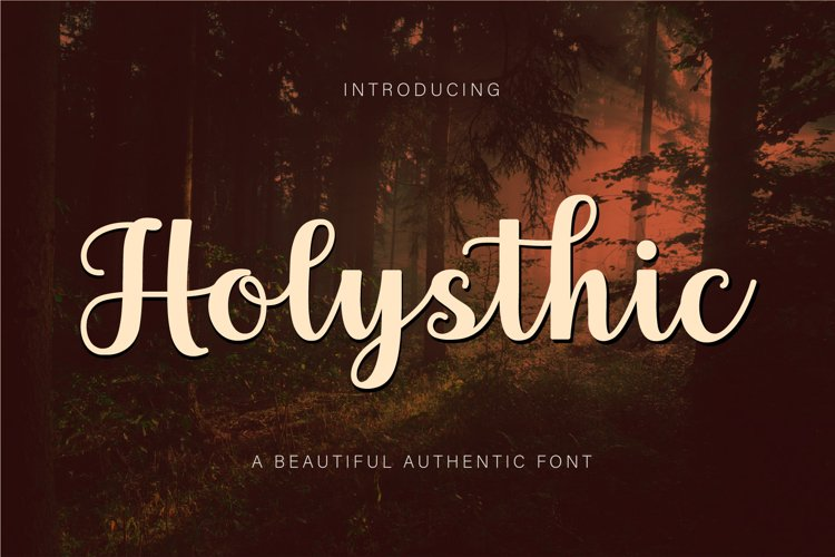Holysthic - Beautiful Authentic Font example image 1