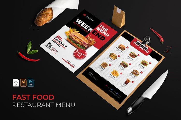 Fast Food | Restaurant Menu example image 1