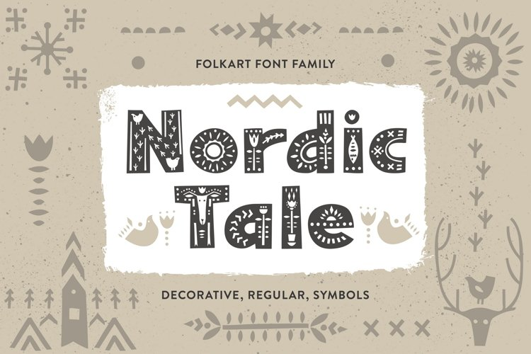 Nordic Tale - Folkart Font Family example image 1