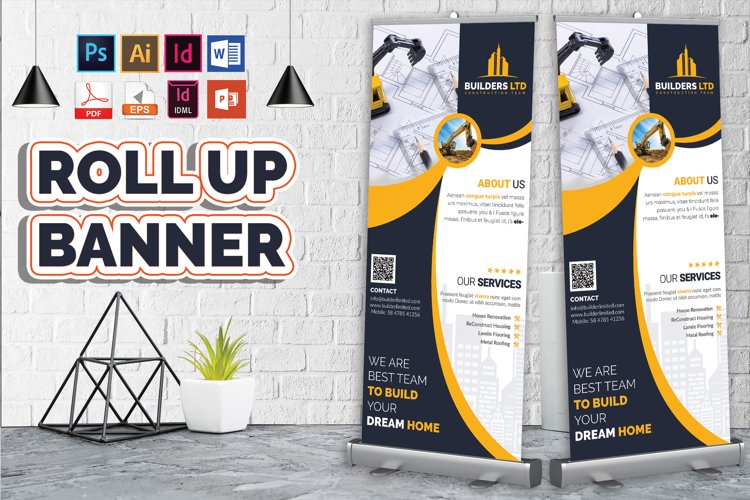 Construction Roll Up Banner Vol-07