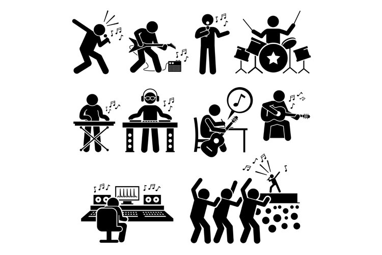 Rock Star Musician Music Artist with Musical Instruments example image 1