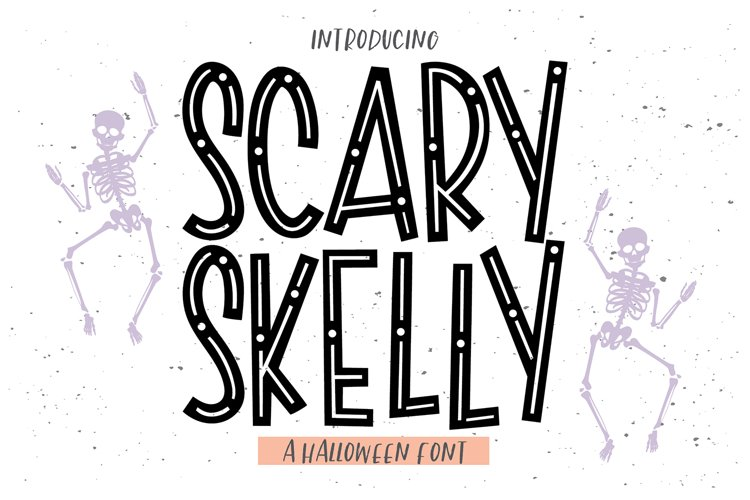 SCARY SKELLY a Halloween Display Font example image 1
