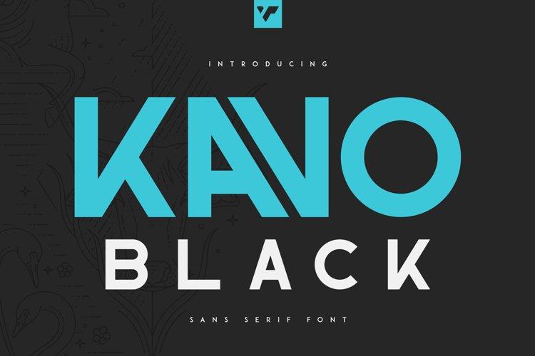 Kavo Sans Serif Black example image 1