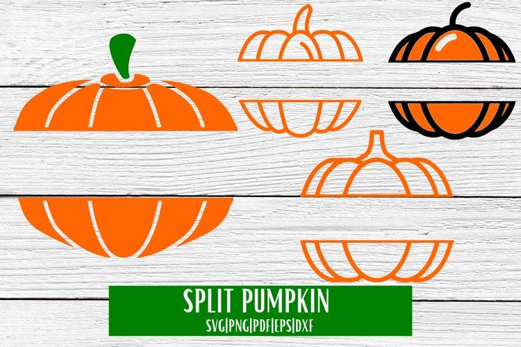 Split Pumpkin SVG - 4 example image 1