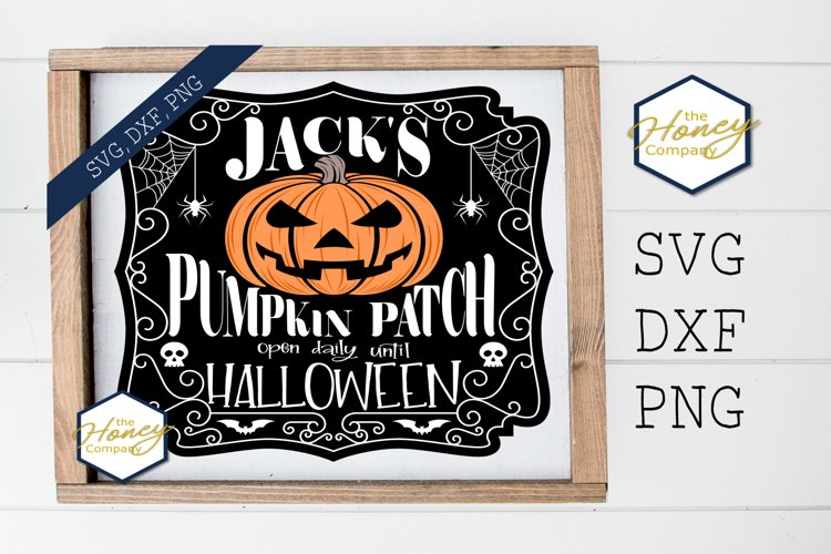 Pumpkin Patch Sign PNG SVG DXF Spooky Halloween Cut File example image 1