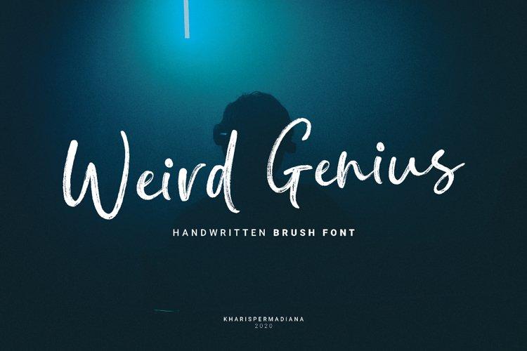 Weird Genius - Handwritten Brush Font
