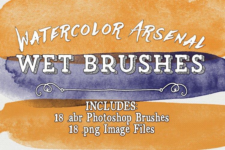 Photoshop Brushes - Watercolor Arsenal Wet Brushes example image 1