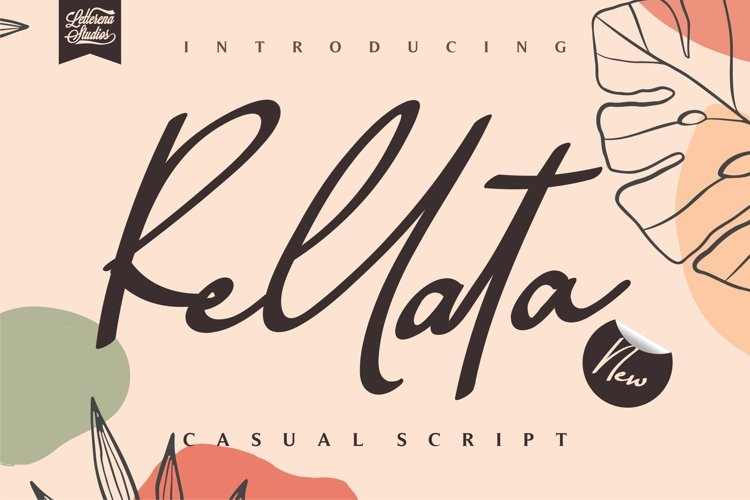 Rellata - Handwritten Font example image 1