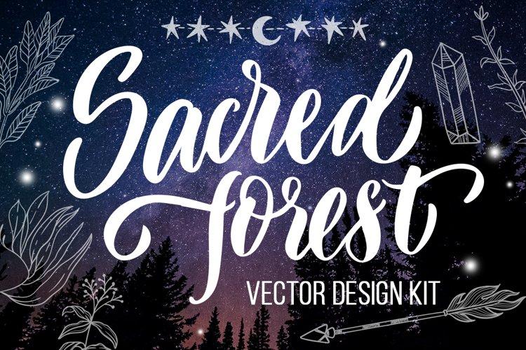 Sacred forest- big vector design kit example image 1