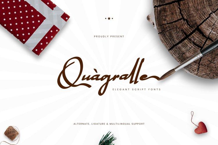 Quagralle Elegant Script Fonts example image 1