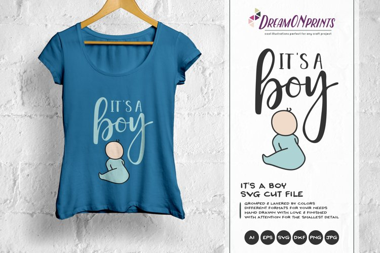 It's a Boy SVG Cut File - Baby Announcement example image 1