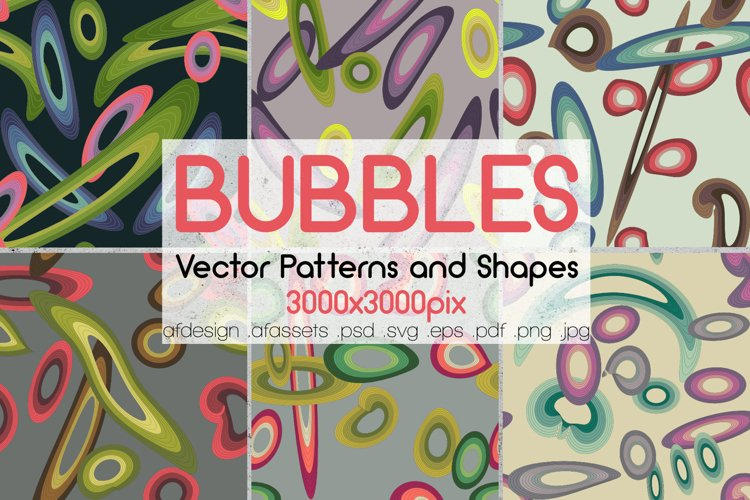 BUBBLES - Vector Patterns and Shapes example image 1