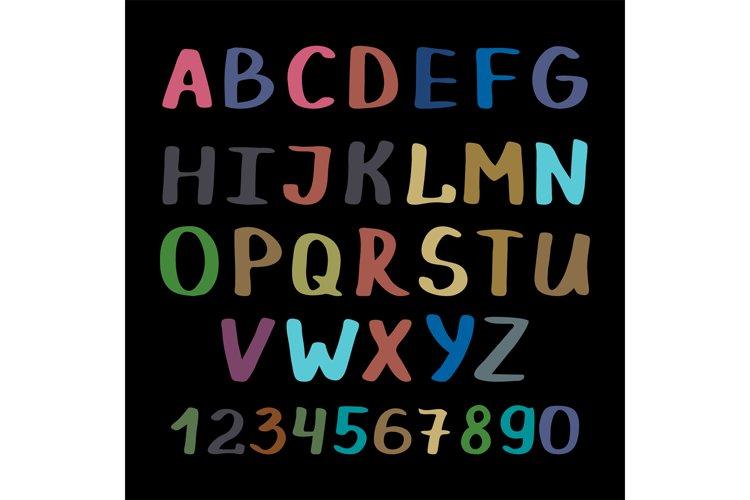 Calligraphy alphabet on black background example image 1