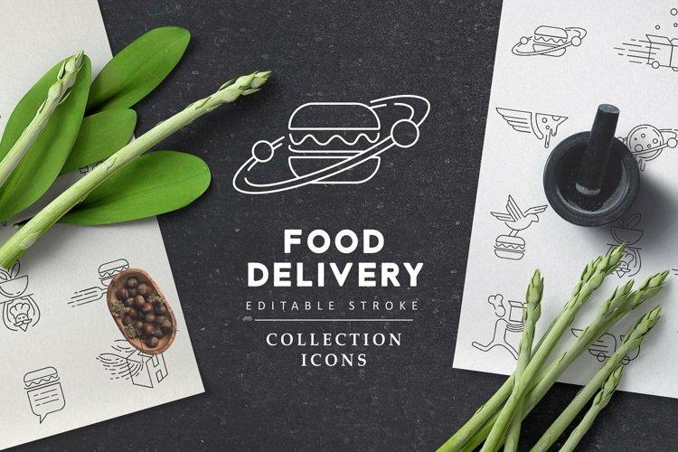 Food deliwery icons & logos