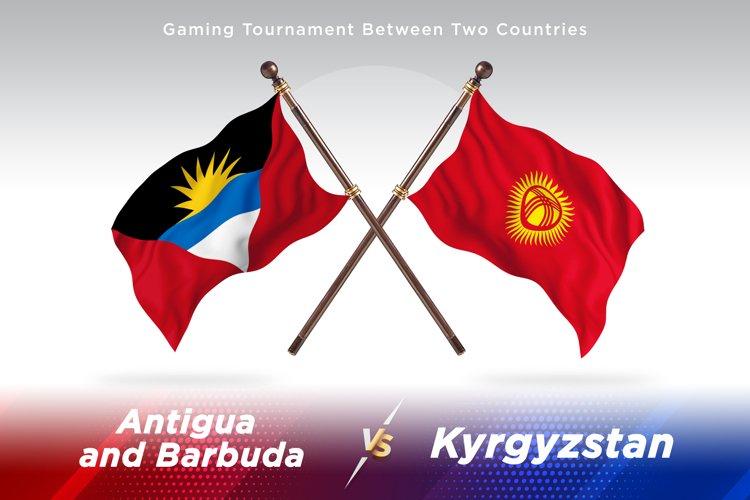 Antigua vs Kyrgyzstan Two Flags example image 1