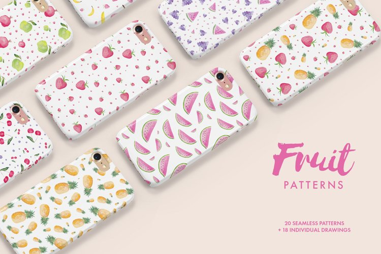 Watercolor Fruit Patterns