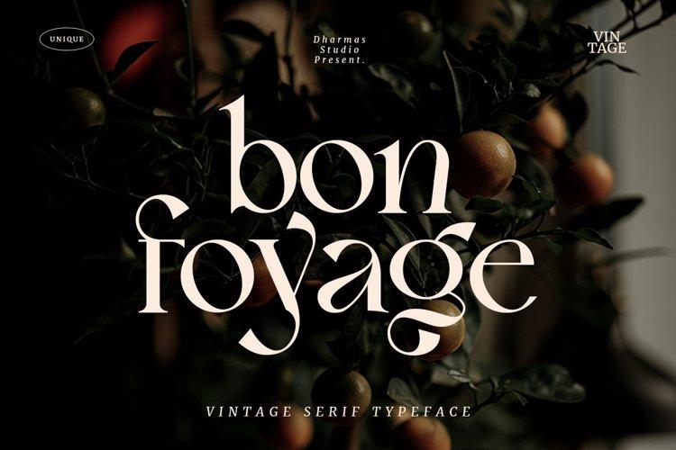 Bon Foyage - Vintage Modern Serif example image 1
