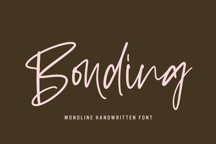 Bonding - Monoline Handwritten Font
