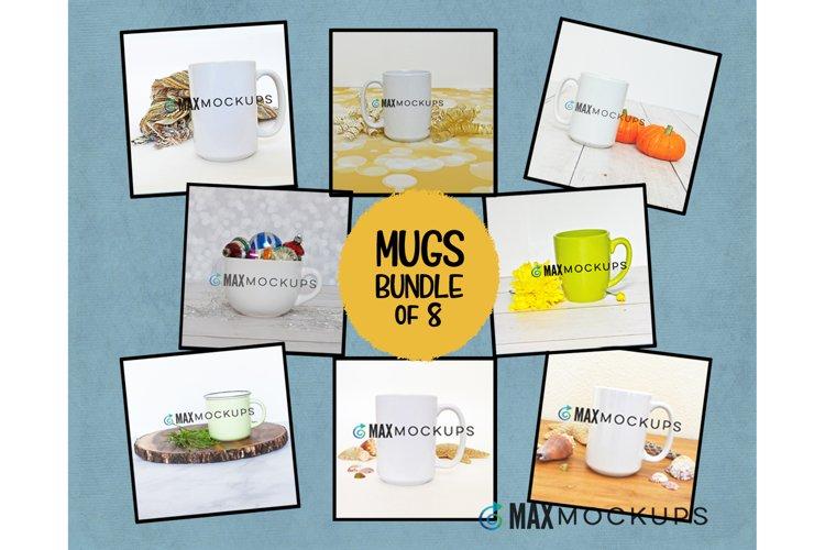 Coffee Mugs Mockup bundle, summer, Christmas beach fall bday