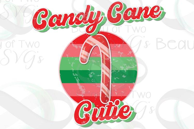 Candy Cane Cutie Retro Vintage Sublimation Design png 300 example image 1