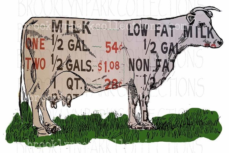 Dairy Sign, Farmhouse, Cow, Clip Art, Print, Sublimation PNG