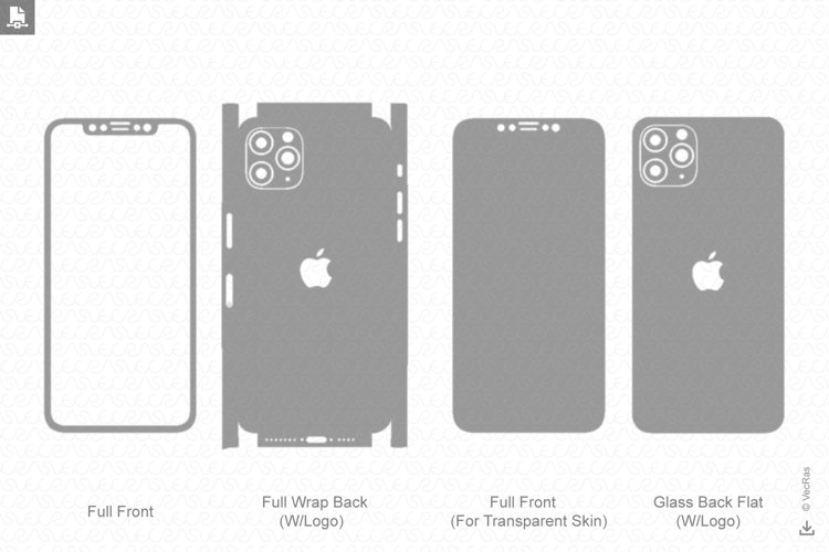 iPhone 11 Pro Max 2019 Skin Template Vector