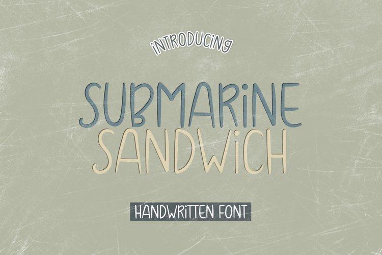 Submarine Sandwich - A Skinny Handwritten Font example image 1