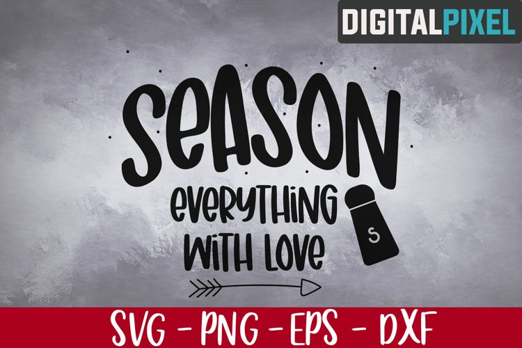 Season Everything With Love Svg, Coffee Svg, Quotes Svg