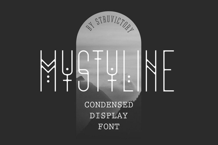 Mystyline - Thin Line Condensed Font example image 1