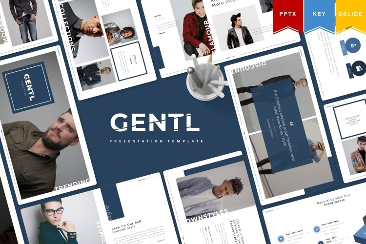 Gentl | Powerpoint, Keynote, GoogleSlides Template example image 1