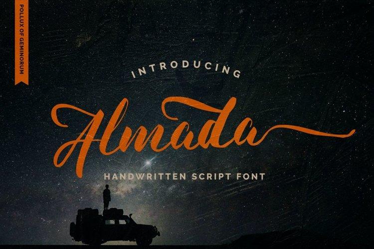 Almada - Handwritten Typeface example image 1