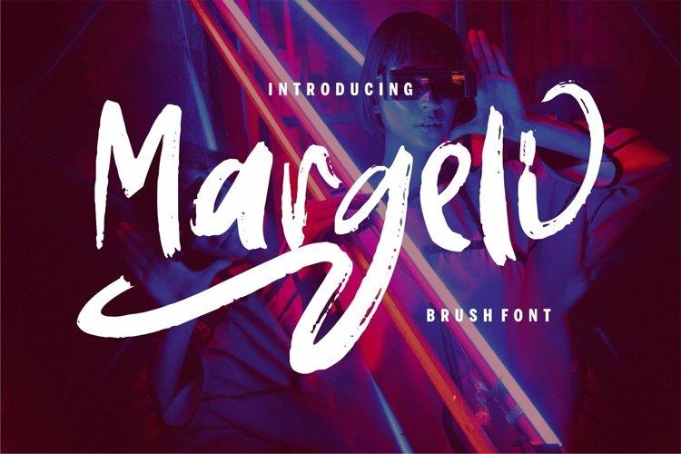 Web Font Margeli - Brush Font example image 1
