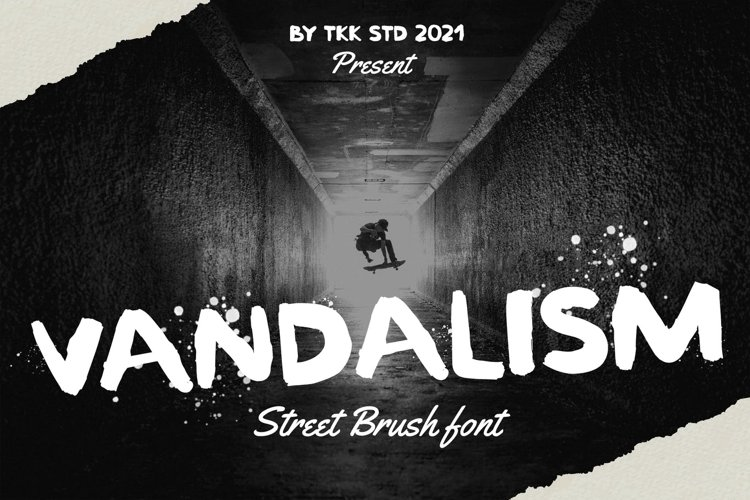 Vandalism - Street Brush Font example image 1