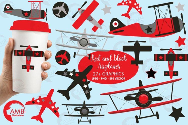 Airplane clipart, Airplane graphics, Biplane, Plane clipart, graphics, illustrations AMB-2269
