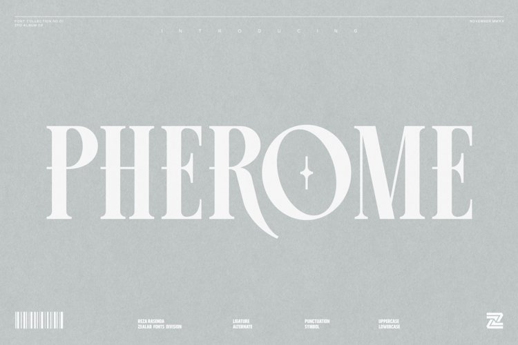 PHEROME DISPLAY FONT example image 1