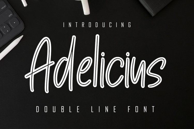Adelicius Double Line Font example image 1